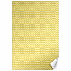 Pattern Yellow Heart Heart Pattern Canvas 20  X 30   by Nexatart