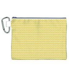 Pattern Yellow Heart Heart Pattern Canvas Cosmetic Bag (xl) by Nexatart