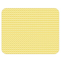Pattern Yellow Heart Heart Pattern Double Sided Flano Blanket (medium)  by Nexatart