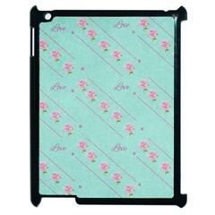Flower Pink Love Background Texture Apple Ipad 2 Case (black) by Nexatart