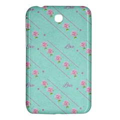 Flower Pink Love Background Texture Samsung Galaxy Tab 3 (7 ) P3200 Hardshell Case