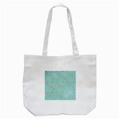 Flower Pink Love Background Texture Tote Bag (white) by Nexatart