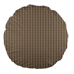 Pattern Background Stripes Karos Large 18  Premium Flano Round Cushions by Nexatart