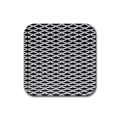 Expanded Metal Facade Background Rubber Square Coaster (4 Pack)  by Nexatart