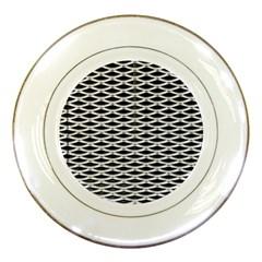 Expanded Metal Facade Background Porcelain Plates