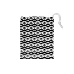 Expanded Metal Facade Background Drawstring Pouches (small)  by Nexatart