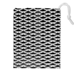 Expanded Metal Facade Background Drawstring Pouches (xxl) by Nexatart