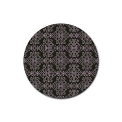 Line Geometry Pattern Geometric Rubber Round Coaster (4 Pack)  by Nexatart