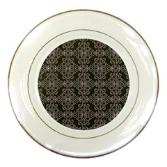 Line Geometry Pattern Geometric Porcelain Plates by Nexatart