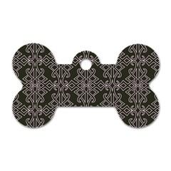 Line Geometry Pattern Geometric Dog Tag Bone (two Sides) by Nexatart