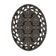 Line Geometry Pattern Geometric Oval Filigree Ornament (two Sides) by Nexatart