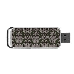 Line Geometry Pattern Geometric Portable Usb Flash (two Sides) by Nexatart