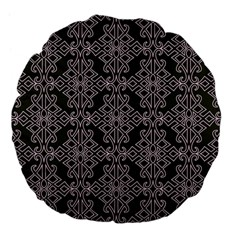 Line Geometry Pattern Geometric Large 18  Premium Flano Round Cushions by Nexatart