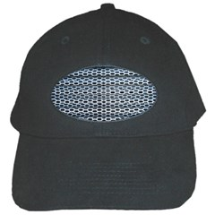 Texture Pattern Metal Black Cap by Nexatart