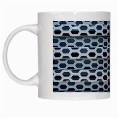 Texture Pattern Metal White Mugs by Nexatart