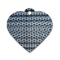 Texture Pattern Metal Dog Tag Heart (one Side) by Nexatart