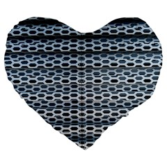 Texture Pattern Metal Large 19  Premium Heart Shape Cushions by Nexatart