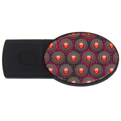 Abstract Circle Gem Pattern Usb Flash Drive Oval (2 Gb) by Nexatart