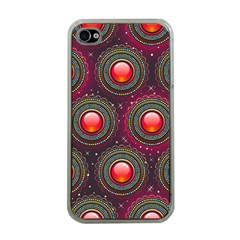 Abstract Circle Gem Pattern Apple Iphone 4 Case (clear) by Nexatart