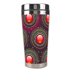 Abstract Circle Gem Pattern Stainless Steel Travel Tumblers by Nexatart