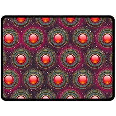 Abstract Circle Gem Pattern Double Sided Fleece Blanket (large)  by Nexatart