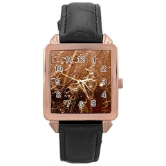 Pink Roses Roses Background Rose Gold Leather Watch  by Nexatart