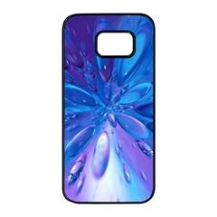 Blue Bubbles Bg Samsung Galaxy S7 edge Black Seamless Case by TailWags