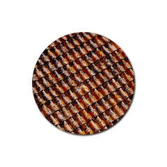 Dirty Pattern Roof Texture Rubber Coaster (round)