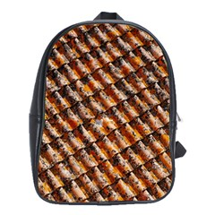 Dirty Pattern Roof Texture School Bags(large)  by Nexatart