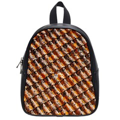 Dirty Pattern Roof Texture School Bags (small)  by Nexatart