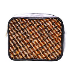 Dirty Pattern Roof Texture Mini Toiletries Bags by Nexatart