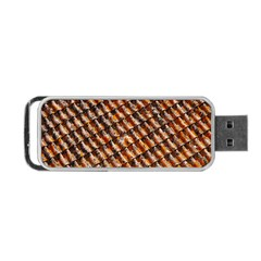 Dirty Pattern Roof Texture Portable Usb Flash (two Sides) by Nexatart