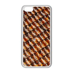 Dirty Pattern Roof Texture Apple Iphone 5c Seamless Case (white) by Nexatart