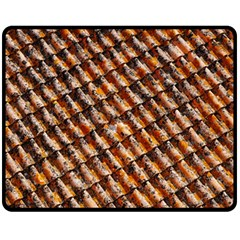 Dirty Pattern Roof Texture Double Sided Fleece Blanket (medium)  by Nexatart