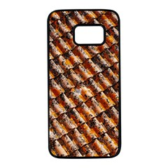 Dirty Pattern Roof Texture Samsung Galaxy S7 Black Seamless Case by Nexatart