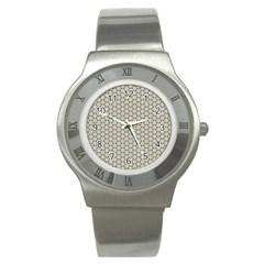 Background Website Pattern Soft Stainless Steel Watch by Nexatart