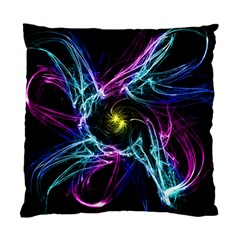 Abstract Art Color Design Lines Standard Cushion Case (one Side) by Nexatart