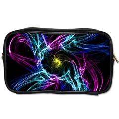 Abstract Art Color Design Lines Toiletries Bags 2 Side by Nexatart
