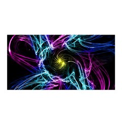 Abstract Art Color Design Lines Satin Wrap by Nexatart