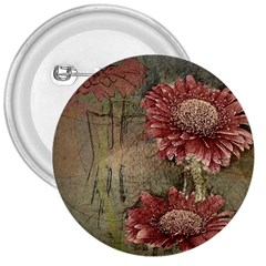 Flowers Plant Red Drawing Art 3  Buttons