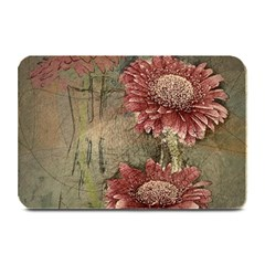 Flowers Plant Red Drawing Art Plate Mats by Nexatart