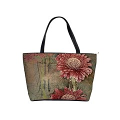 Flowers Plant Red Drawing Art Shoulder Handbags by Nexatart