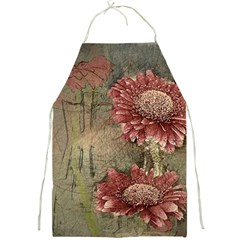 Flowers Plant Red Drawing Art Full Print Aprons by Nexatart