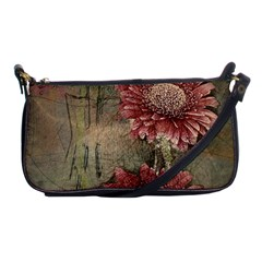 Flowers Plant Red Drawing Art Shoulder Clutch Bags by Nexatart