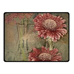 Flowers Plant Red Drawing Art Fleece Blanket (small) by Nexatart