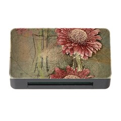 Flowers Plant Red Drawing Art Memory Card Reader With Cf by Nexatart