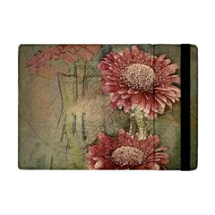 Flowers Plant Red Drawing Art Apple Ipad Mini Flip Case by Nexatart