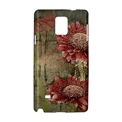 Flowers Plant Red Drawing Art Samsung Galaxy Note 4 Hardshell Case by Nexatart