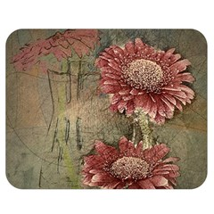 Flowers Plant Red Drawing Art Double Sided Flano Blanket (medium)  by Nexatart