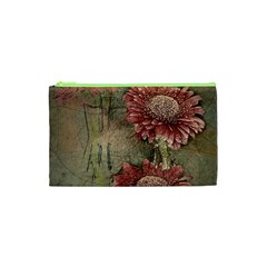 Flowers Plant Red Drawing Art Cosmetic Bag (xs) by Nexatart